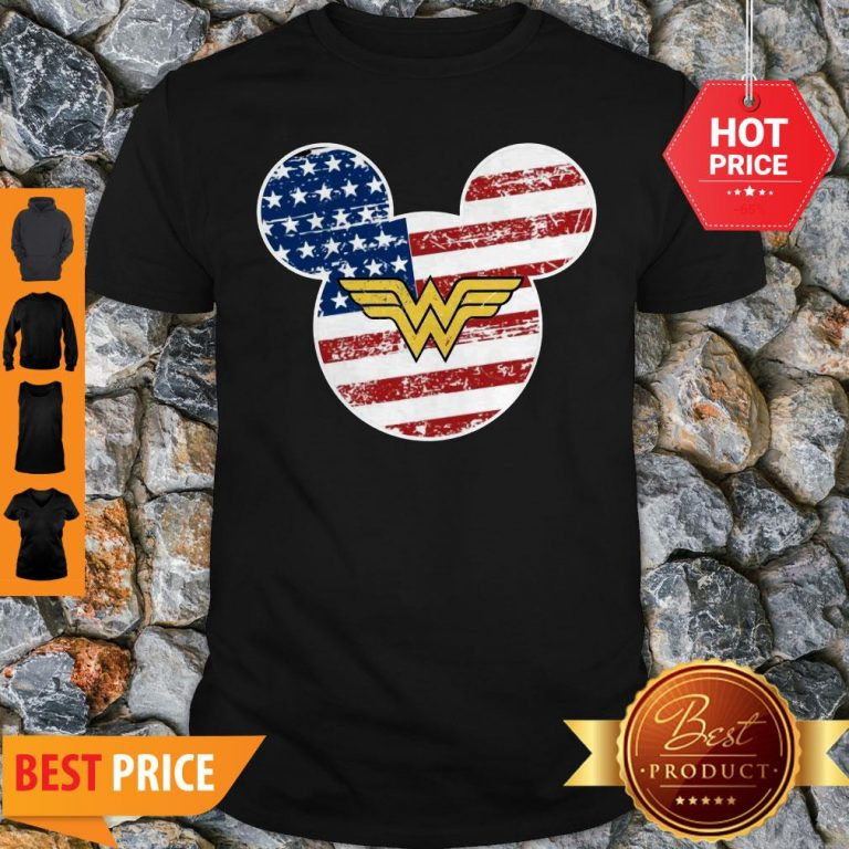 Nice Wonder Woman Disney Mickey Mouse Shirt