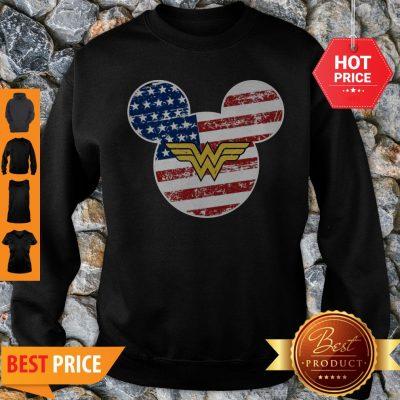 Nice Wonder Woman Disney Mickey Mouse Sweatshirt