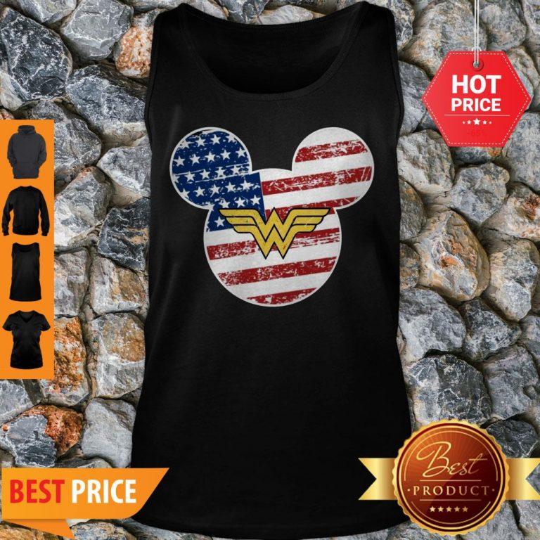 Nice Wonder Woman Disney Mickey Mouse Tank Top