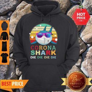 Official Corona Shark Die Die Die Die Vintage Hoodie