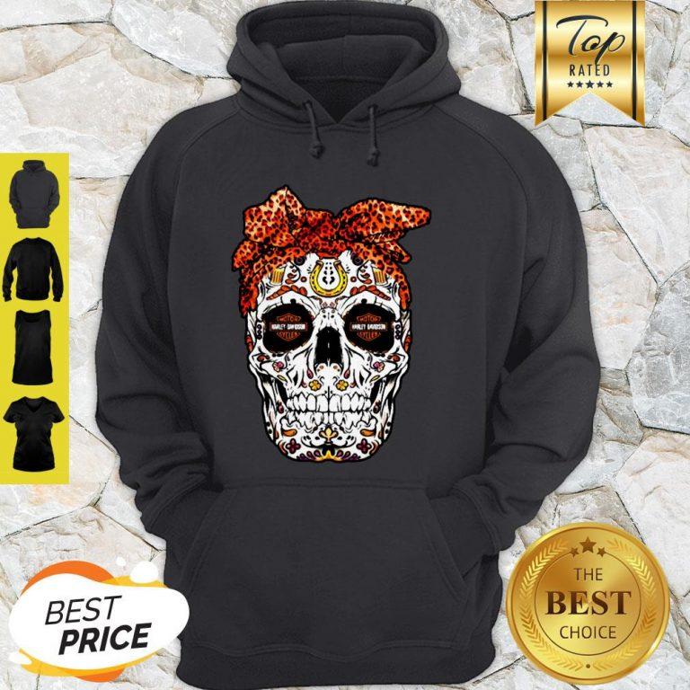 Sugar Skull Motor Harley Davidson Cycles Hoodie