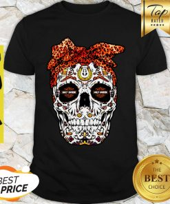 Sugar Skull Motor Harley Davidson Cycles Shirt