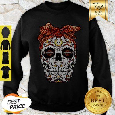 Sugar Skull Motor Harley Davidson Cycles Sweatshirt