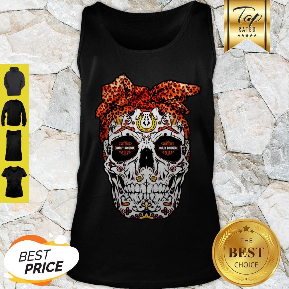 Sugar Skull Motor Harley Davidson Cycles Tank Top