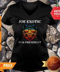 Tiger King Joe Exotic For President Lion V-neck