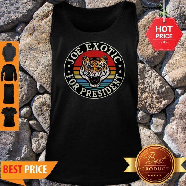 Tiger King Joe Exotic For President Vintage Tank Top