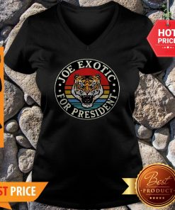 Tiger King Joe Exotic For President Vintage V-neck