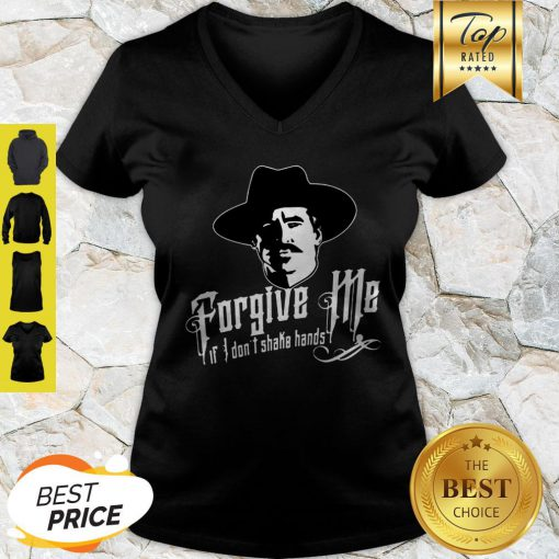 Tombstone Forgive Me If I Don't Shake Hands V-neck