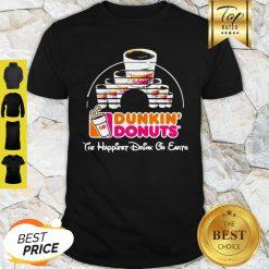 Walt Disney Dunkin' Donuts The Happiest Drink On Earth Shirt