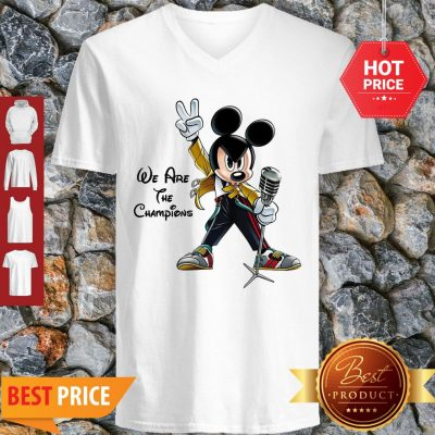 We Are The Champions Queen Mickey Freddie Mercury V-neck