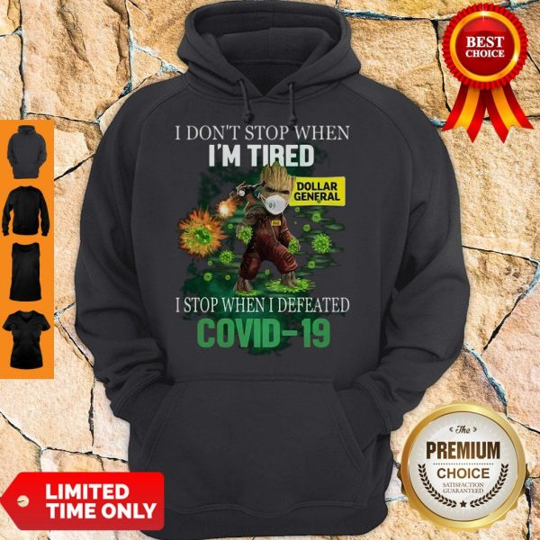 Baby Groot Dollar General I Stop When I Defeated Covid-19 Hoodie