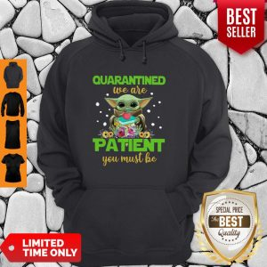 Baby Yoda Book Quarantined We Are Patient You Must Be Hoodie