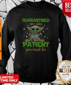 Baby Yoda Book Quarantined We Are Patient You Must Be Sweatshirt