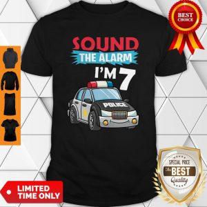 Birthday Boy 7 Years Old Police Car Policeman Cop Shirt