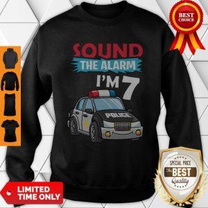 Birthday Boy 7 Years Old Police Car Policeman Cop Sweatshirt