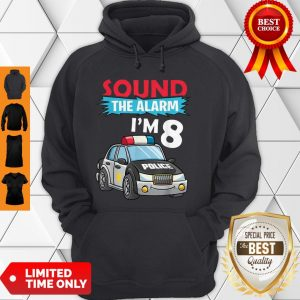 Birthday Boy 8 Years Old Kids Police Car Policeman Cop Hoodie