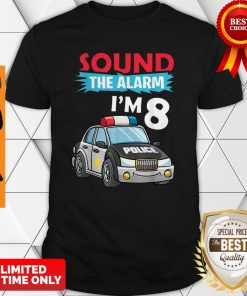 Birthday Boy 8 Years Old Kids Police Car Policeman Cop Shirt