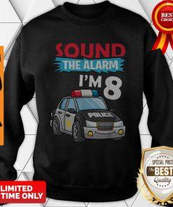 Birthday Boy 8 Years Old Kids Police Car Policeman Cop Sweatshirt