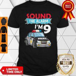 Birthday Boy 9 Years Old Kids Police Car Policeman Cop Shirt