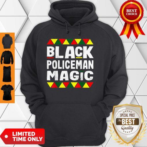 Black Policeman Magic Black History Month Africa Pride Hoodie