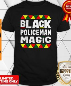 Black Policeman Magic Black History Month Africa Pride Shirt