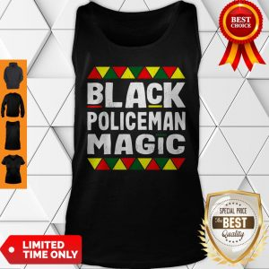 Black Policeman Magic Black History Month Africa Pride Tank Top