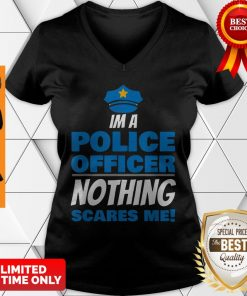 Brave Police Officer Not Afraid Cop Law Enforcement V-neck