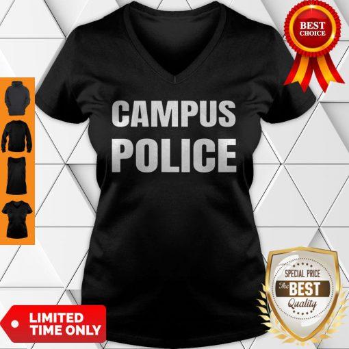 Campus Police Officer University Policeman Security Uniform V-neck