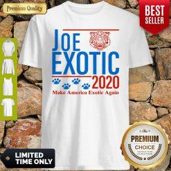 Capture Joe Exotic Tiger King Make America Exotic Again 2020 Shirt