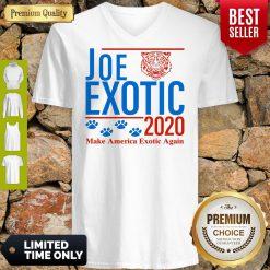 Capture Joe Exotic Tiger King Make America Exotic Again 2020 V-neck
