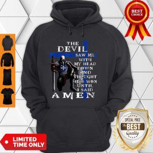 Christian Police Officer The Devil Saw Me Knight Templar Hoodie