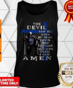 Christian Police Officer The Devil Saw Me Knight Templar Tank Top