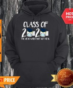 Class Of 2020 The Year When Thit Got Real Toilet Paper Hoodie