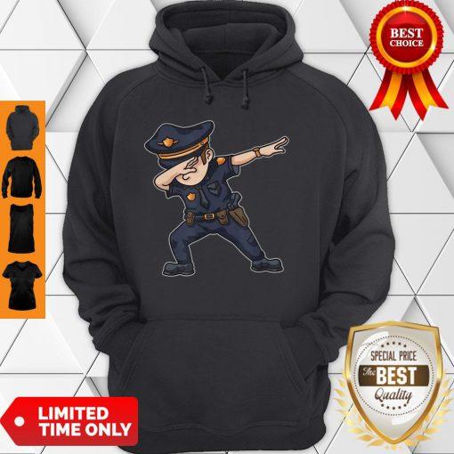 Dabbing Police Funny Policeman Dab Dance Law Enforcer Corps Hoodie