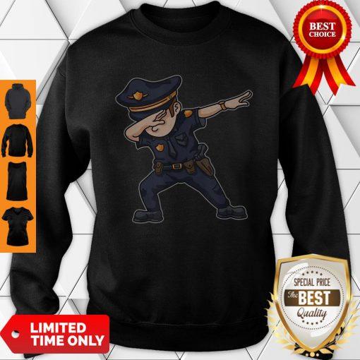 Dabbing Police Funny Policeman Dab Dance Law Enforcer Corps Sweatshirt
