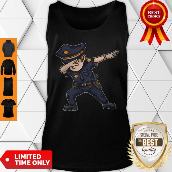 Dabbing Police Funny Policeman Dab Dance Law Enforcer Corps Tank Top