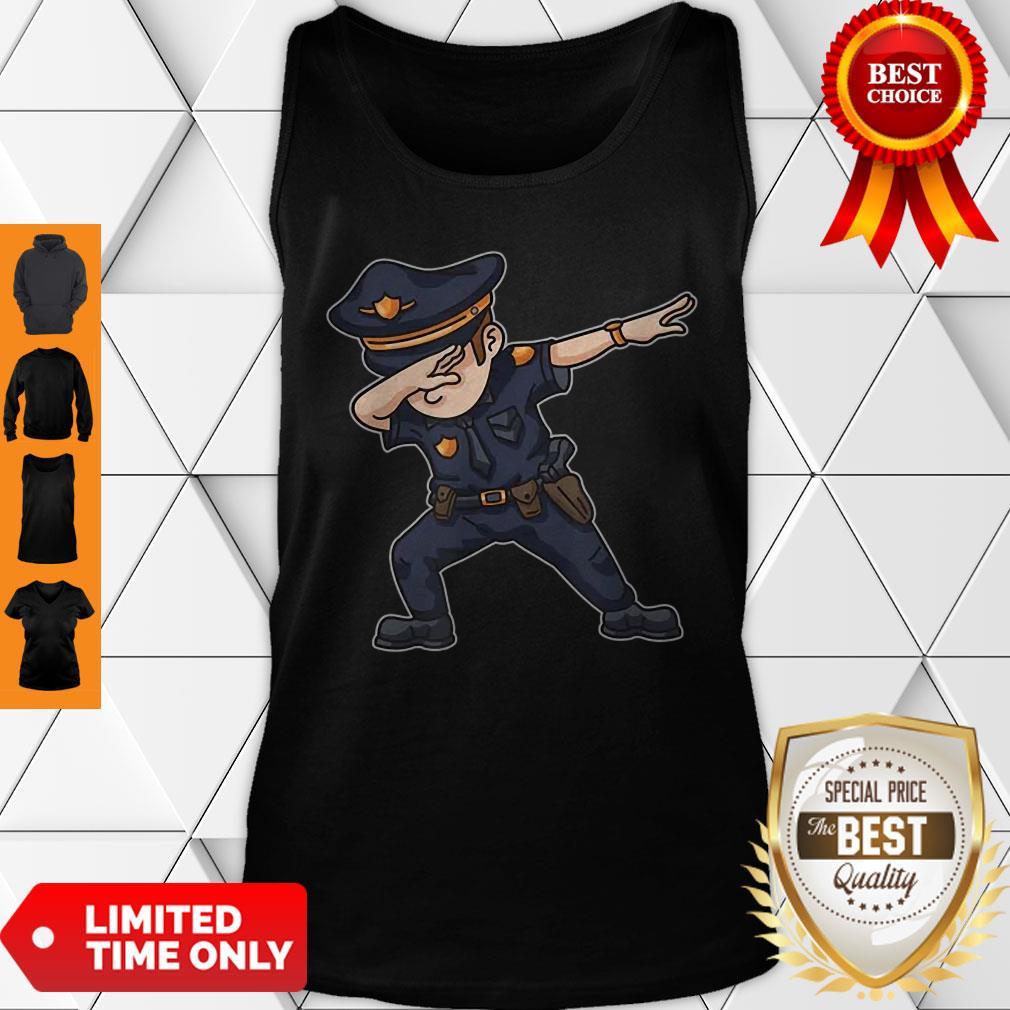 Dabbing Police Funny Policeman Dab Dance Law Enforcer Corps Tank Top