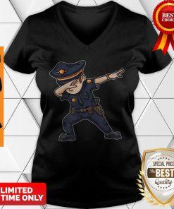 Dabbing Police Funny Policeman Dab Dance Law Enforcer Corps V-neck