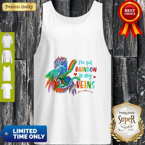 Dragon I've Got Rainbow In My Veins Tank Top