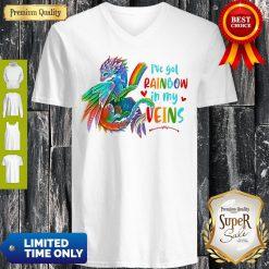 Dragon I've Got Rainbow In My Veins V-neck