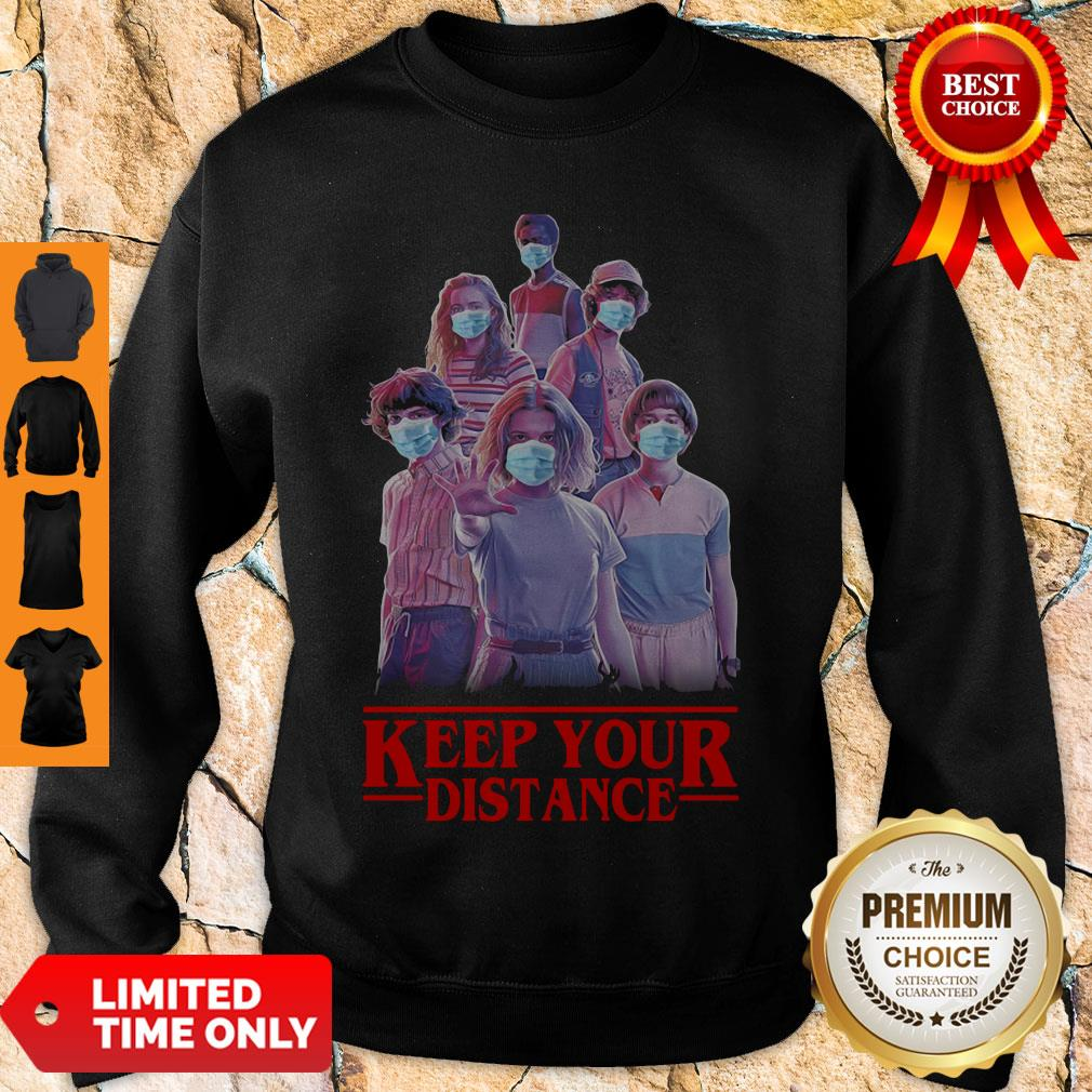 Good Strangerthings Eleven Mike Will Max Dustin Lucas Season Keep Your Distance Covid-19 Sweatshirt