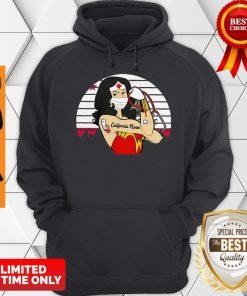 Good Strong Wonder Woman Tattoo California Nurse Coronavirus Hoodie