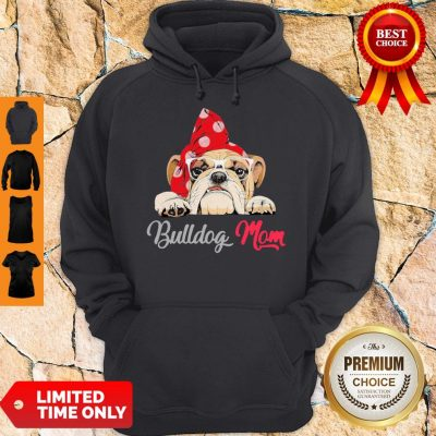 Premium Bulldog Cute Wear Glasses Dog Mom Hoodie