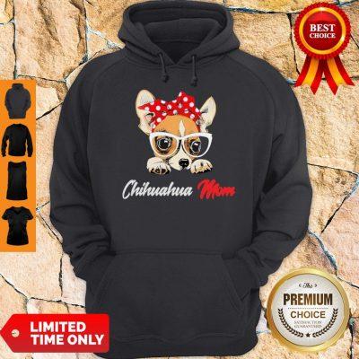 Nice Chihuahua Wear Glasses Dog Mom Hoodie