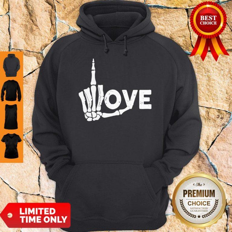 Premium Skeleton Fuck Love Hoodie
