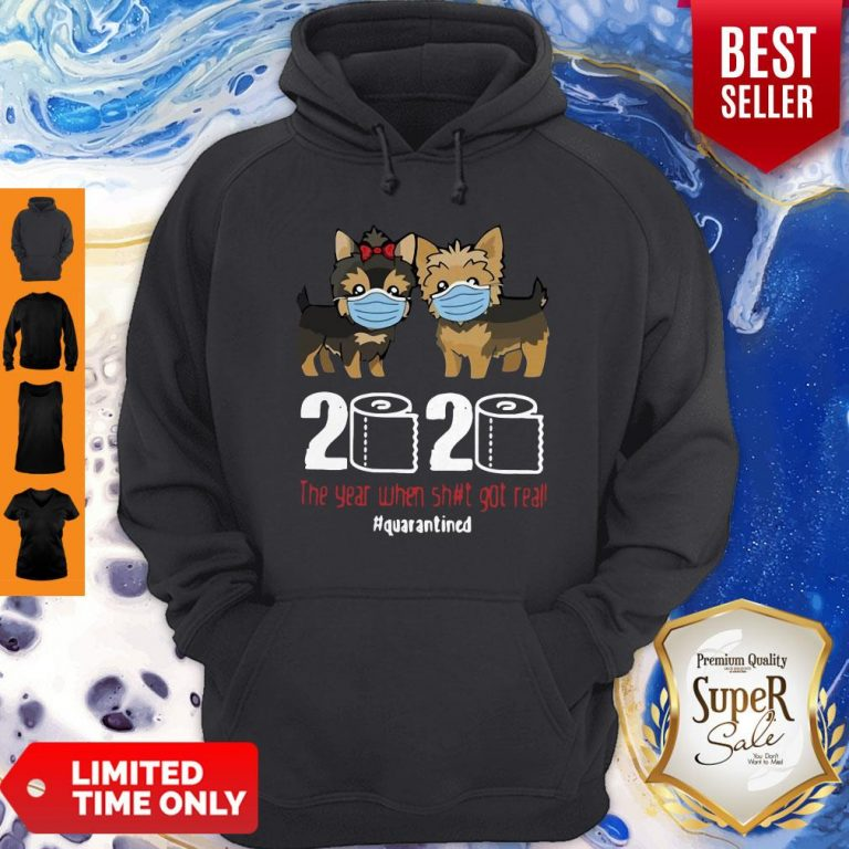 Premium Dogaholic Face Masks Toilet Paper 2020 The Year When Shit Got Real Quarantined Hoodie