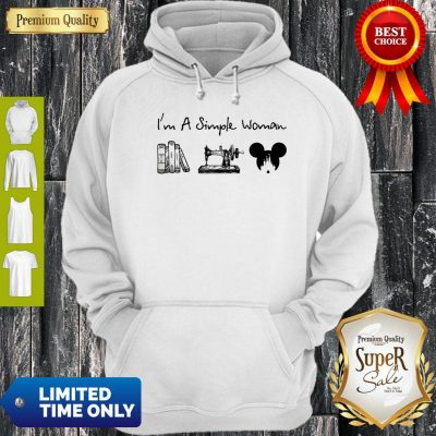 Premium I Am A Simple Woman Book Sewing Mickey Mouse Hoodie