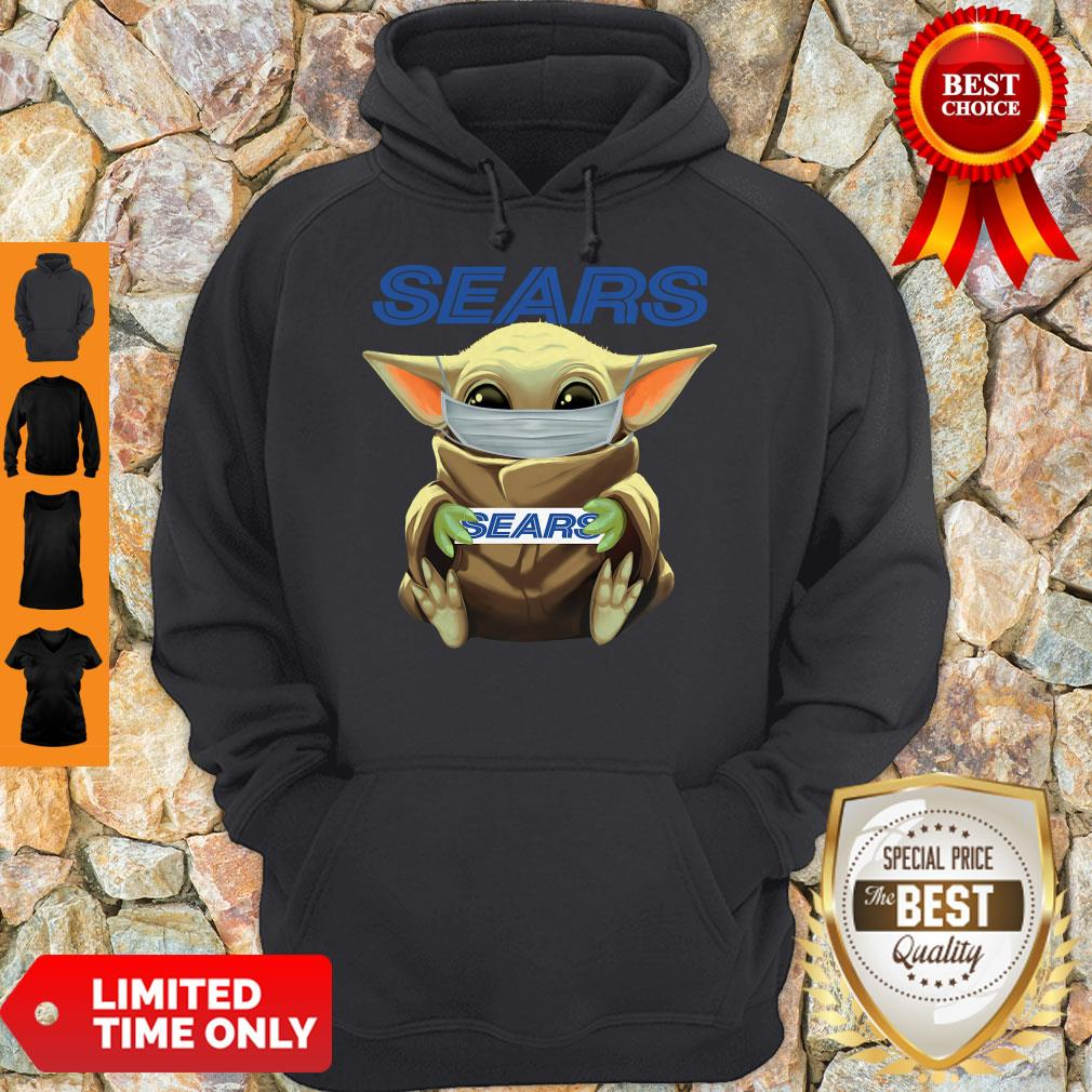 Nice Baby Yoda Face Mask Sears Cant Stay At Home Hoodie