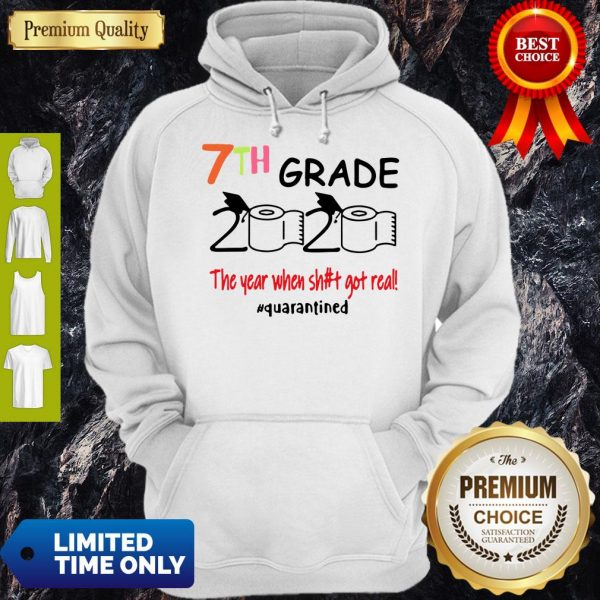 7th Grade 2020 The Year When Shit Got Real Quarantined Covid-19 Hoodie