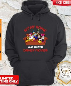 Mickey And Friends Stay Home And Watch Disney Movie Hoodie